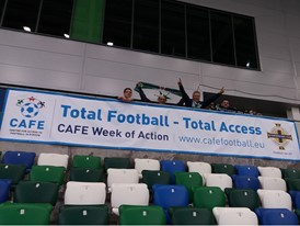 The opening of new accessible facilities at Windsor Park, Northern Ireland