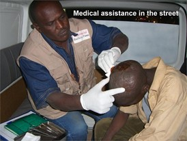 Medical assistance in the street