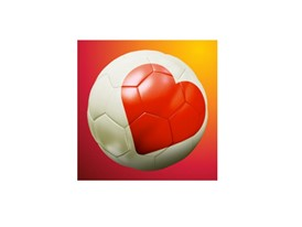 heart on a football