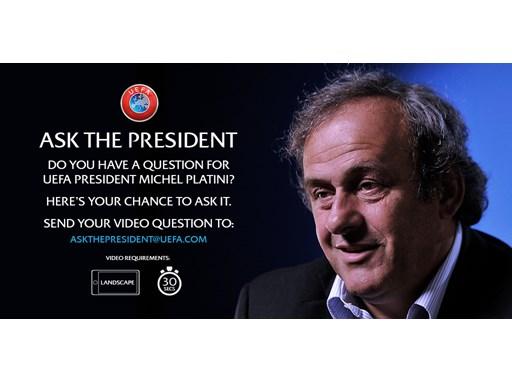 UEFA President speaks to fans on YouTube English