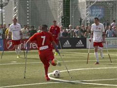 Amputee football match takes place in Berlin