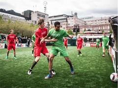 Colour blind awareness at Europa League final
