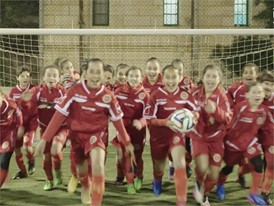 Under-13 girls' academy players in Malta saying 'Happy International Women's Day!' - Video 2