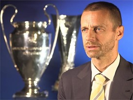 The UEFA President speaks about the upcoming club competition finals, and the on-pitch trophy presentations