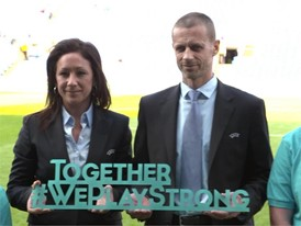 UEFA PRESIDENT WEPLAYSTRONG PHOTO1