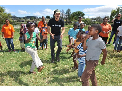 UNICEF Goodwill Ambassador Orlando Bloom Visits Children in South Africa
