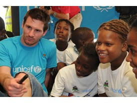 UNICEF Goodwill Ambassador Leo Messi campaigns for an end to preventable child deaths