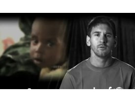 Goodwill Ambassador and football star Leo Messi campaigns for an end to preventable child deaths