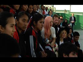 UNICEF Supporter Lady Gaga Visits School in Peru
