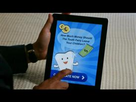 B-Roll of the Visa Tooth Fairy App