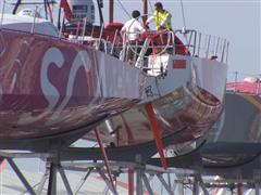 Final checks and finishing touches for the Volvo Ocean Race Fleet