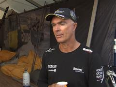 Pre-Leg 3 interview with Bouwe Bekking (NED) in Dutch