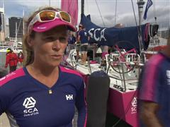 Pre-Leg 5 interviews with Carolijn Brouwer (NED)