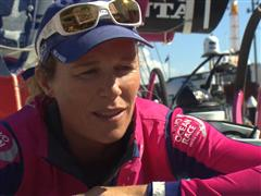 Carolijn Brouwer (NED) - Post In-Port Race interviews (DUT/PORT)