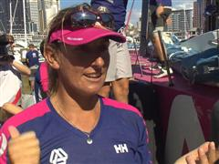 Dee Caffari (GBR) - Post In-Port Race interview