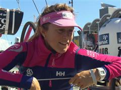 Samantha Davies (GBR) - Post In-Port Race interviews