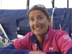 Leg 5 - Dock interview with Dee Caffari (GBR)