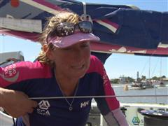 Leg 5 finish Interviews with Dee Caffari (GBR)