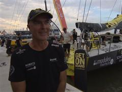 Pre-Leg 6 interviews with Bouwe Bekking (NED)