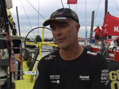 In-Port Race interviews with Bouwe Bekking (NED)