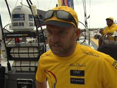 Leg 6 start dock Interview with Ian Walker (GBR)