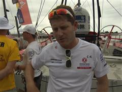 Leg 6 start dock interviews with Charles Caudrelier (FRA)