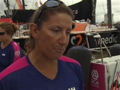 Leg 6 start dock Interview with Dee Caffari (GBR)