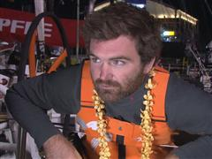 Leg 6 arrival interview with Charlie Enright (USA)