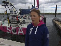 Pre-Leg 7 interviews with Samantha Davies (GBR)