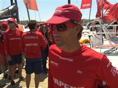 Leg 7 start dock Interviews with Iker Martinez (ESP)