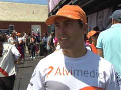 Leg 7 start dock Interview with Alberto Bolzan (ITA)