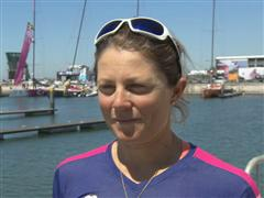 Leg 7 arrival interviews with Samantha Davies (GBR)