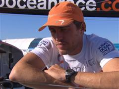 Leg 7 arrival Interview with Alberto Bolzan (ITA)