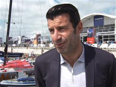 Luís Figo visited the Volvo Ocean Race village in Lisbon on International Children's Day