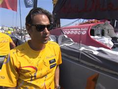 Nuno Gomes sails with Abu Dhabi Ocean Racing in Lisbon's In-Port Race
