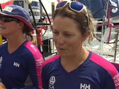 Leg 8 Start Interviews with Samantha Davies (GBR)