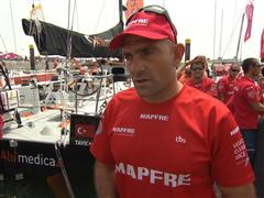 Leg 8 Start Interviews with Xabi Fernandez (ESP)