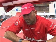Lorient SCA In-Port Race 2nd place Interviews with Xabi Fernandez (ESP)