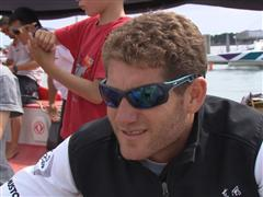 Lorient SCA In-Port Race 3rd place Interviews with Charles Caudrelier (FRA)