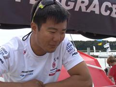 Lorient SCA In-Port Race 3rd place interview with Wolf (CHN)