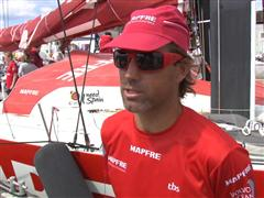 Lorient SCA In-Port Race 2nd place Interviews with Iker Martinez (ESP)