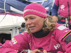 The Hague Pit Stop arrival Interview - Carolijn Brouwer (NED)