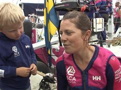 Gothenburg In-Port Race Interview with Samantha Davies (GBR)