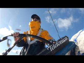 Team Telefonica sailing footage
