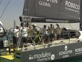 Leg 2 arrivals: three-way tie for Team Brunel (NED), Dongfeng Race Team (CHN) and Abu Dhabi Ocean Racing (UAE)