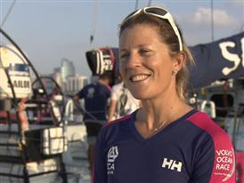 Pre-Leg 3 interviews with Samantha Davies (ENG)