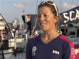 Pre-Leg 3 interviews  with Samantha Davies (FRA)
