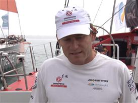 Leg 3 Start Interviews with Charles Caudrelier (FRA/EN)