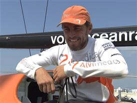 Leg 3 arrival - Interview with Alberto Bolzan (ITA)