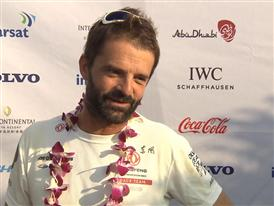 Leg 3 arrival - Interview with Pascal Bidegorry (FRA)